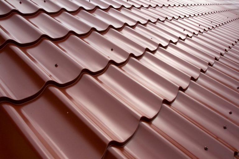 Metal sheet on roof
