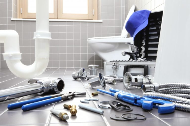 Plumber tools and equipment