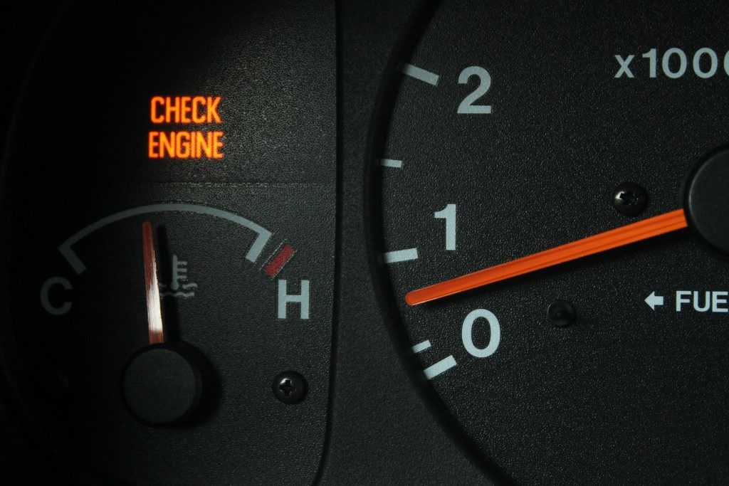 cooling meter on the car