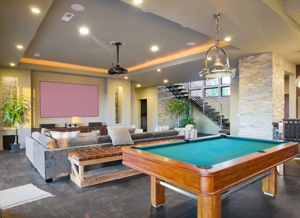 entertainment room in a luxury home