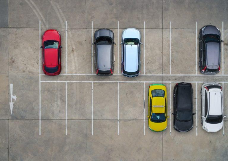 Asphalt parking driveway