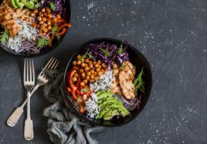 Healthy food bowl