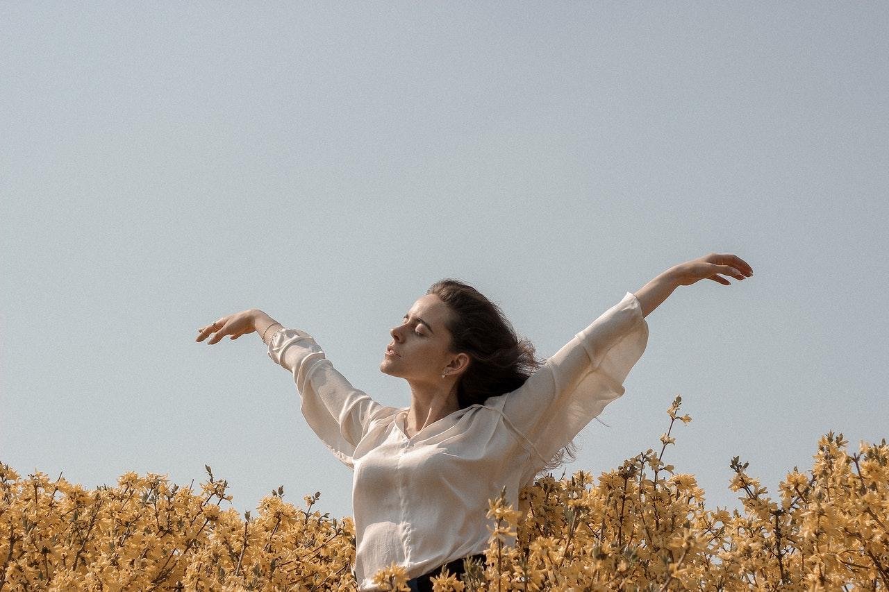 woman free of stress