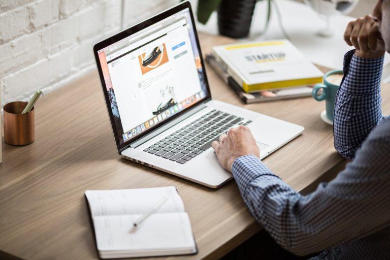 man working laptop