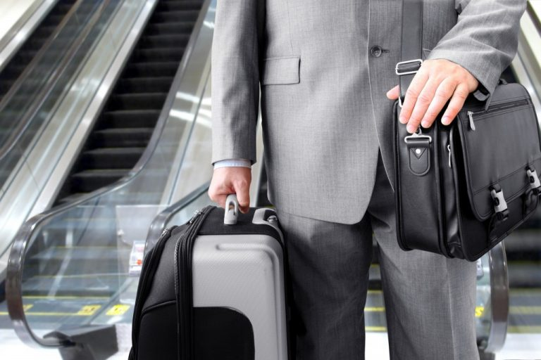 businessman travelling